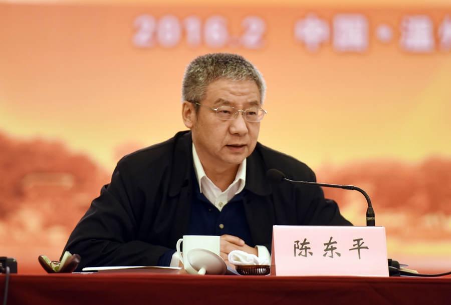 全国党建研究会专职副秘书长 陈东平(人民网记者 冯粒 摄)