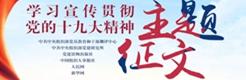 """""""学习宣传贯彻党的十九大精神""""主题征文"""