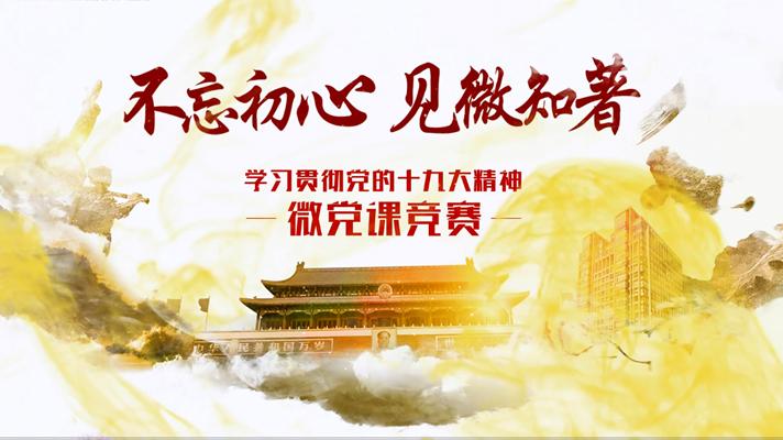 不忘初心 见微知著――中国农业银行学习贯彻党的十九大精神微党课竞赛作品